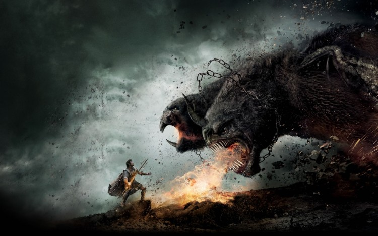 3D-Monster-Vs-Man-Fantasy-Wallpaper