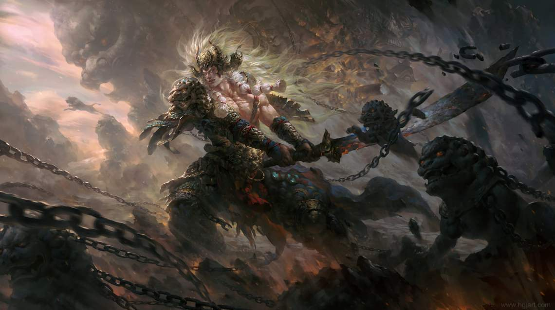 fantasy-battle-warrior-game-character-wallpaper